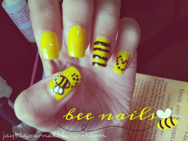 Jaybees Journal Nail Art Tutorial How To Make A Bumble Bee