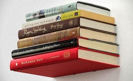 Rak buku mengambang cantik