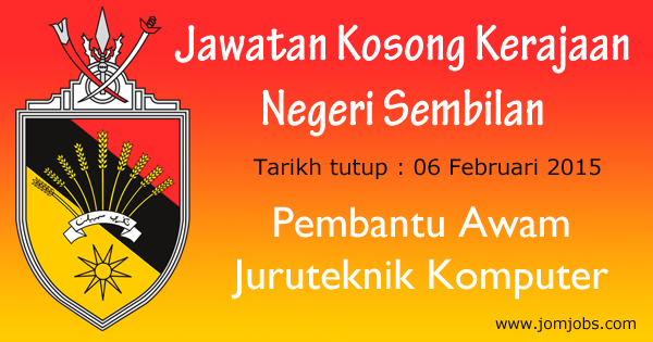 Jawatan Kosong Kerajaan Negeri Sembilan 2015 Terkini