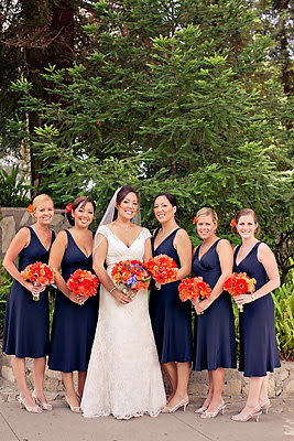 Red heels events blog oranges and blues for Navy dress for fall wedding