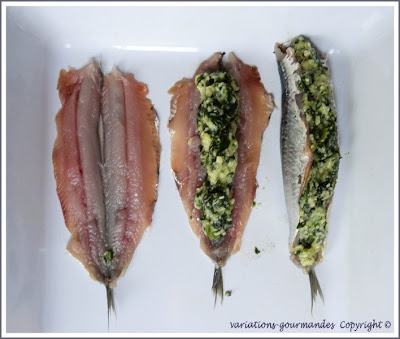 variations gourmandes les sardines farcies la ni oise. Black Bedroom Furniture Sets. Home Design Ideas