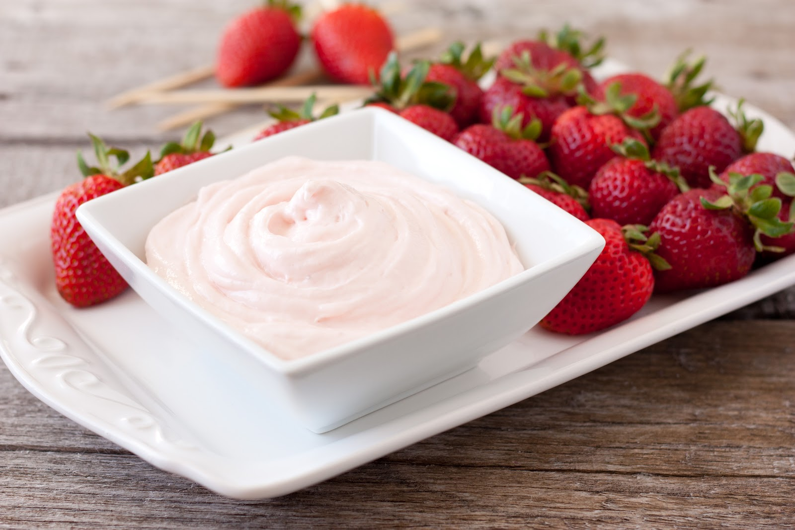 healthy cream cheese fruit dip fruit center