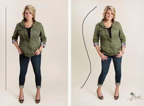 how to look thinner in photos hands in the pocket