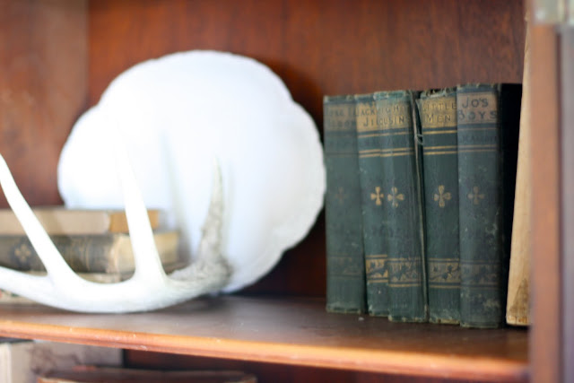 antiques bookshelf