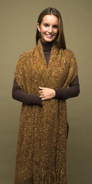 how to wear a rectangular shawl