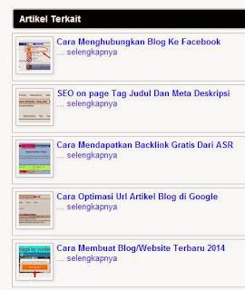 Cara Membuat Navigasi Post Terkait Di Blog
