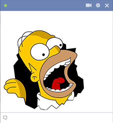 Homer Simpson Facebook Sticker
