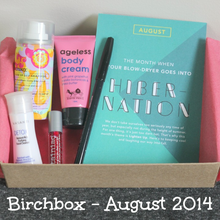 Birchbox August 2014 Review & Unboxing