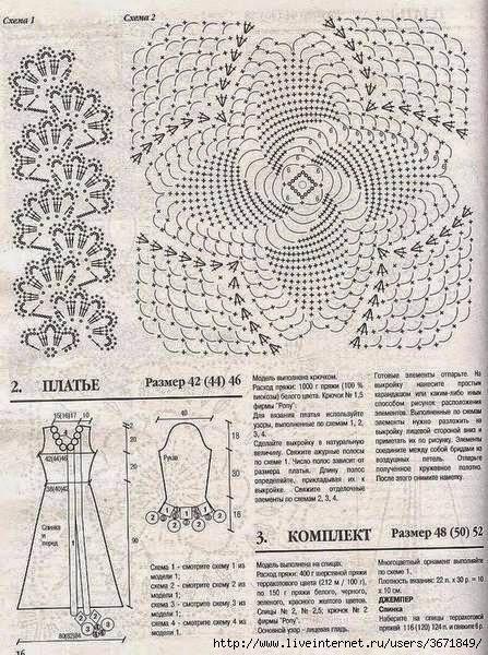 Vestido de novia al crochet -  con diagramas