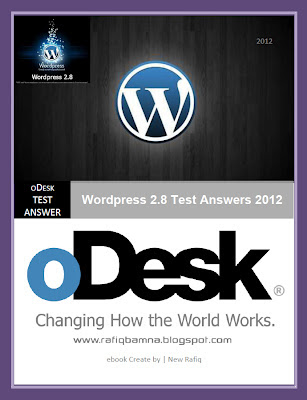 Wordpress 2.8 Test Answers