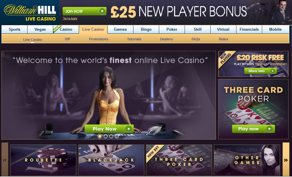 """live casino at william hill"