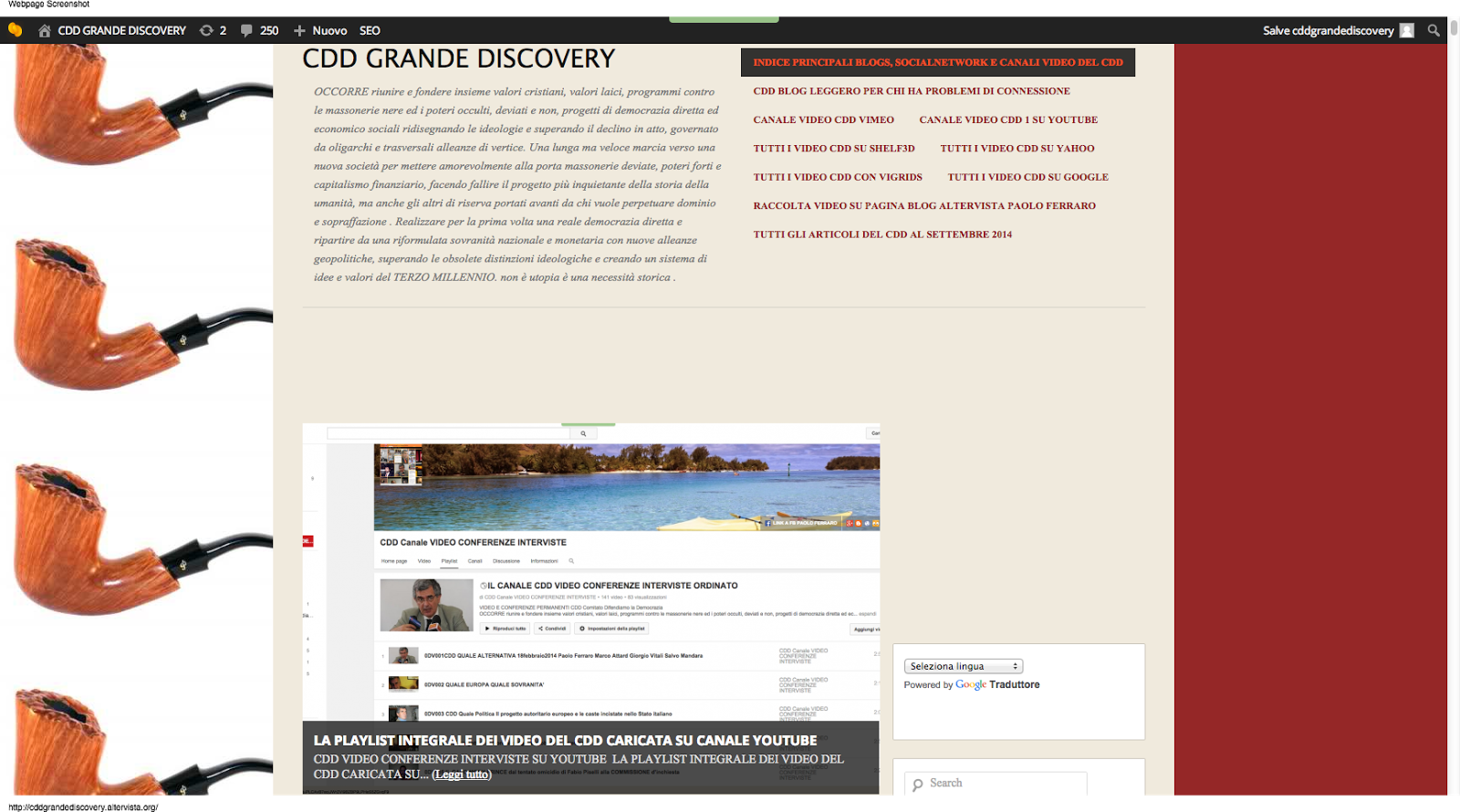 GUARDA IL BLOG CDDGRANDEDISCOVERY SU ALTERVISTA