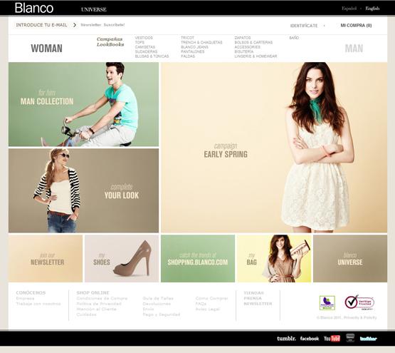 tienda online Blanco