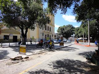 Praça da Sé em reforma.