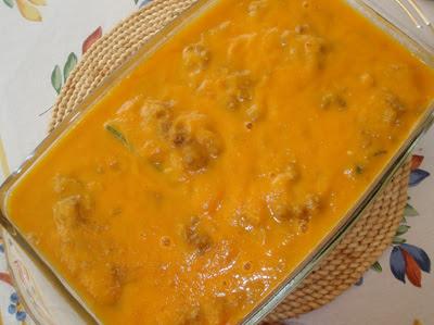 calabacines rellenos de carne con salsa española