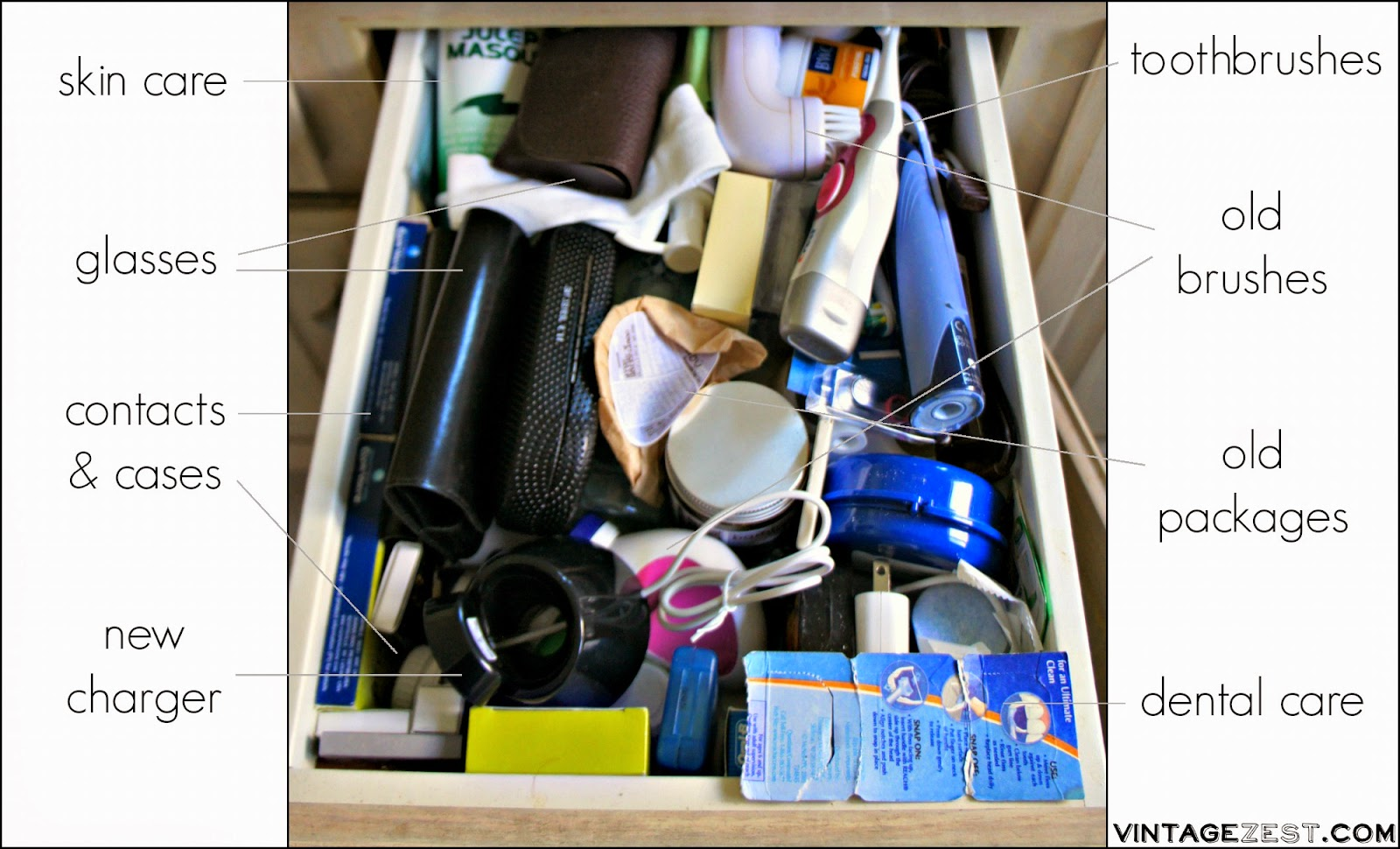 Spring Cleaning: Creating an Organized Bathroom Drawer! on Diane's Vintage Zest!