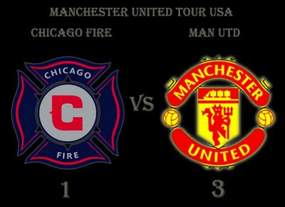 Man Utd Tour USA Result Chicago Fire v Manchester United