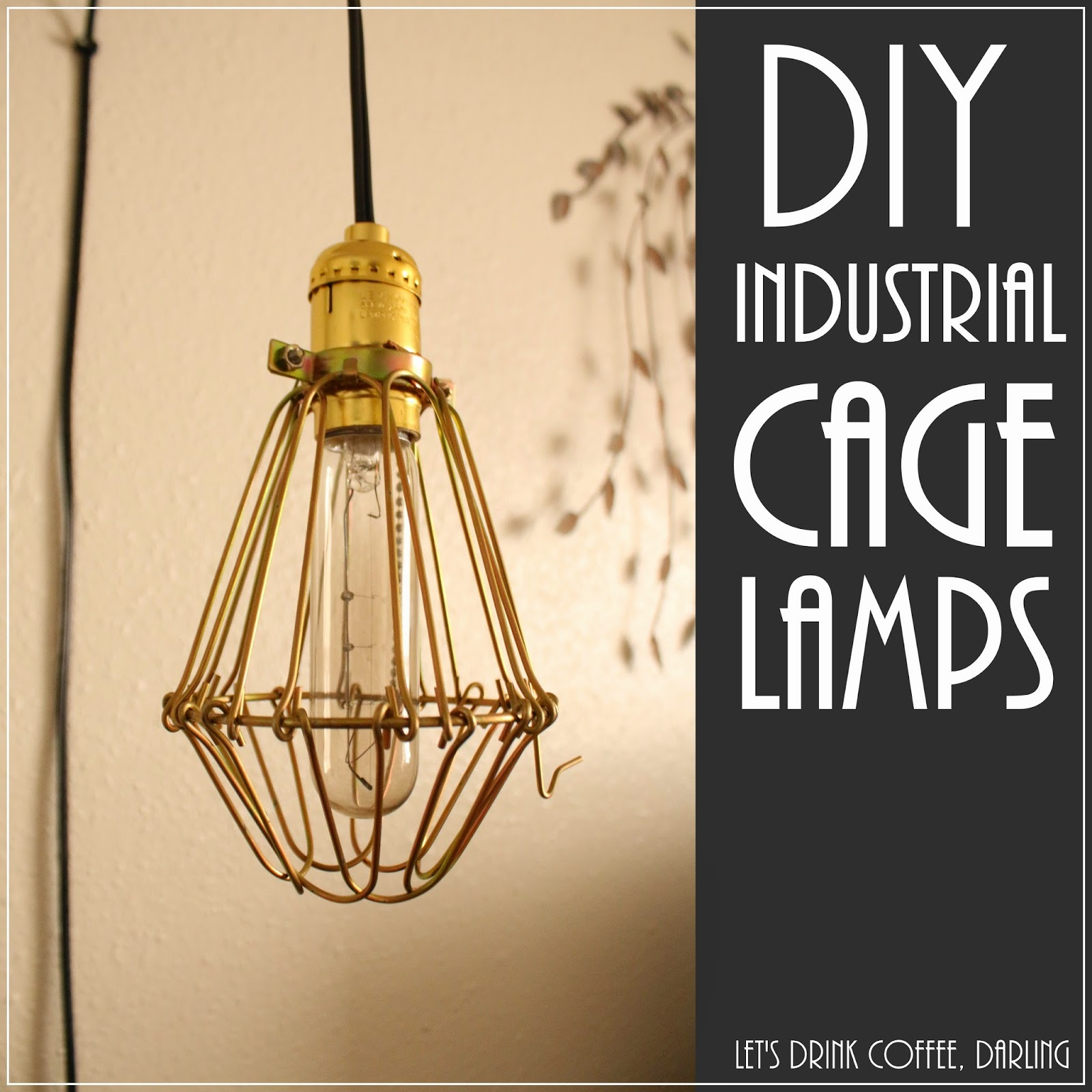 Lets drink coffee darling diy industrial cage lights diy industrial cage lights mozeypictures