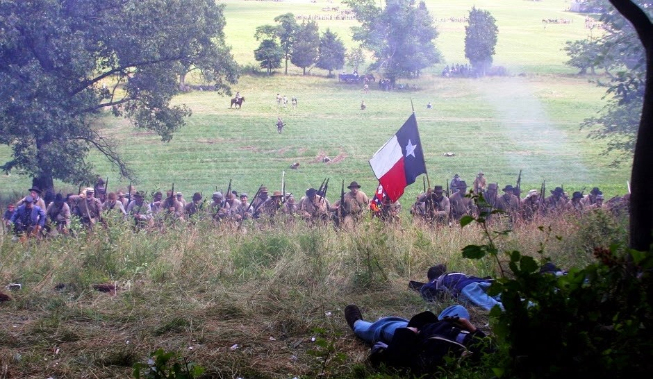 Texans at Gettysburg Reenactment