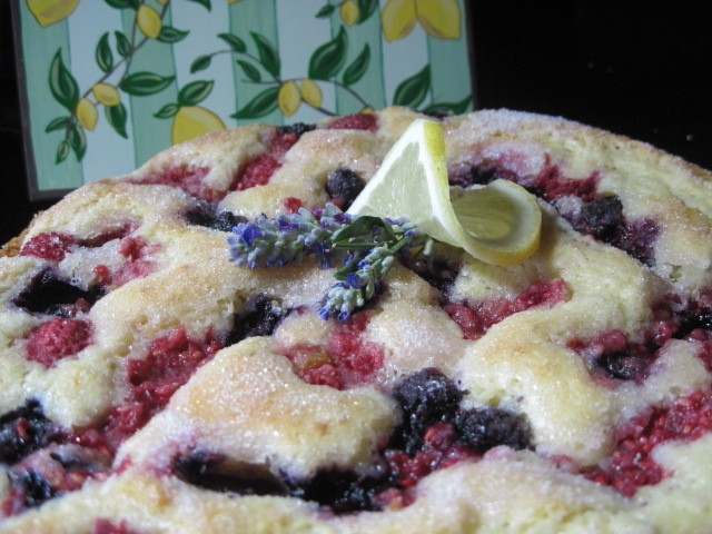 Lemon Lavender Summer Fruit Cake Recipe