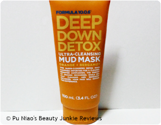 Formula 10.0.6 Deep Down Detox Ultra-Cleansing Mud Mask Orange + Bergamot