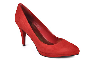 Guess red shoes