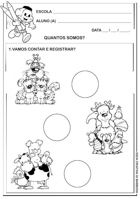 Atividade Matemática Educação Infantil Temática Animais