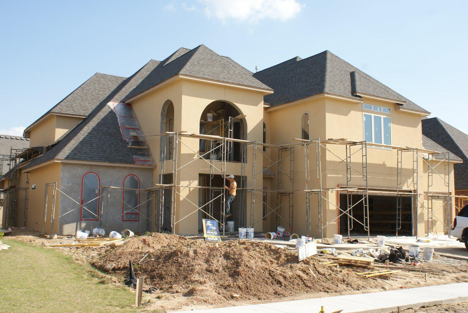 our house construction ahhh the stucco