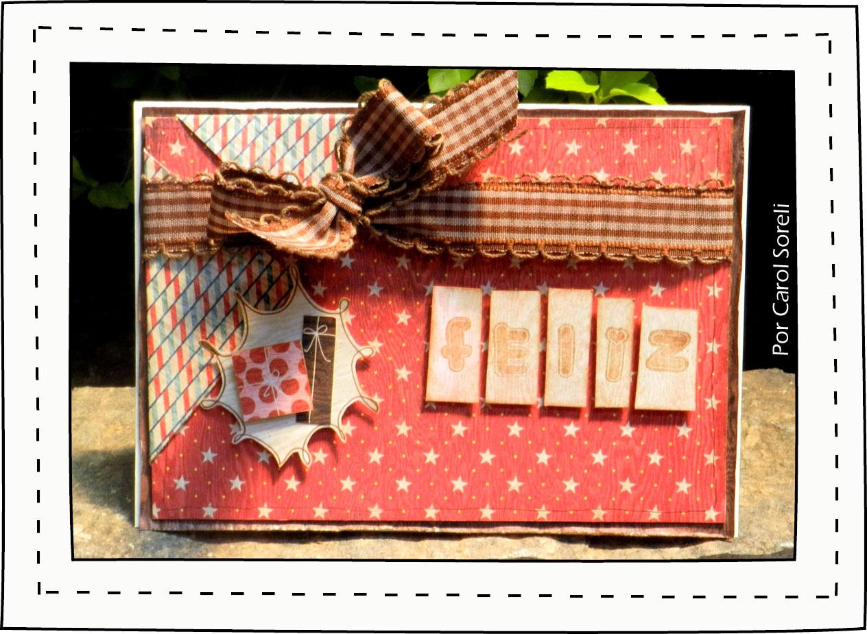 Aparador Vidro ~ Sorelinha Cart u00e3o Artesanal para Natal ou Aniversário!!!