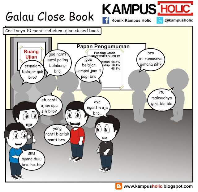 #250 Galau ujian Close Book mahasiswa