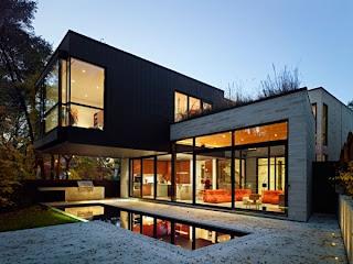 fachada bonita y moderna