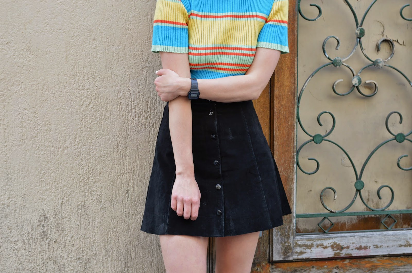 How to style a stripy summer jumper top