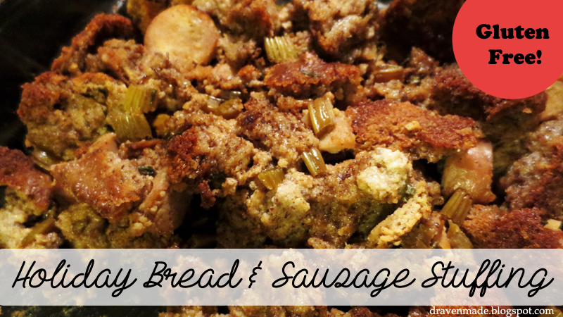 Draven Made: Holiday Sausage Bread Stuffing {Gluten Free}