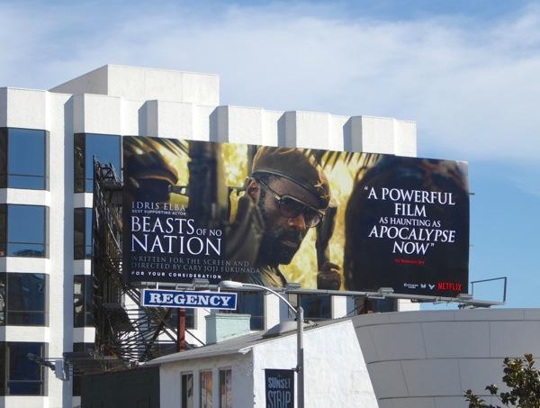 Beasts of No Nation Idris Elba FYC billboard