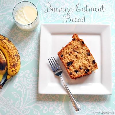 banana bread, recipe, oatmeal, milk