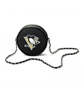 Pittsburgh Penguins NHL Hockey Puck Crossbody Bag