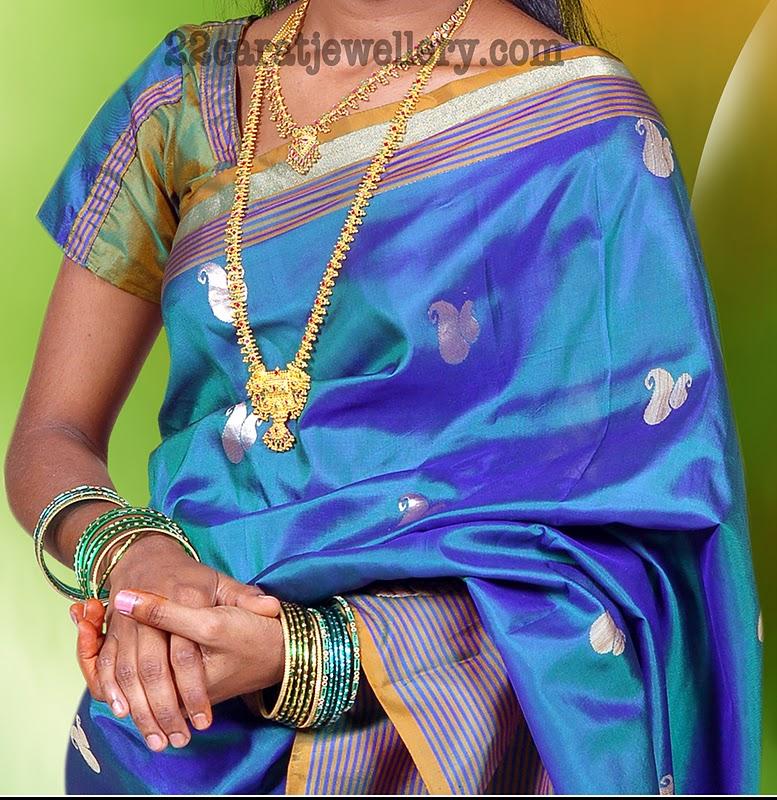Cousin Light Weight Gundu Mala and Necklace - Jewellery Designs