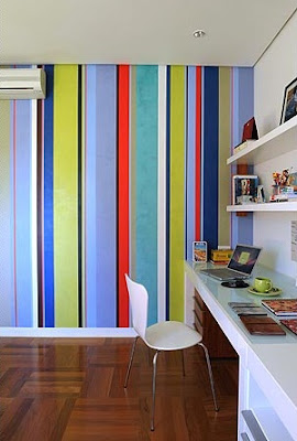 pintura de listras coloridas
