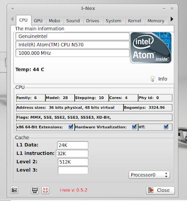 I-nex hardware information