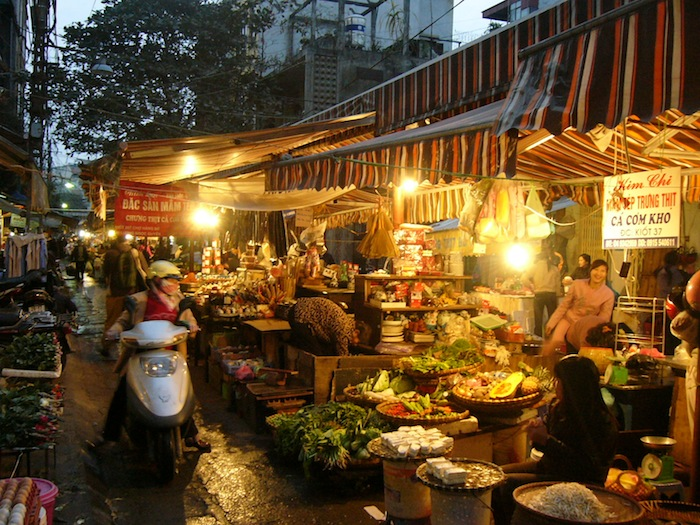 night market in hanoi vietnam
