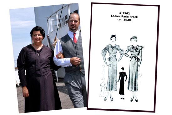 Vintage 30s dress pattern Lady by Choice Simplicity