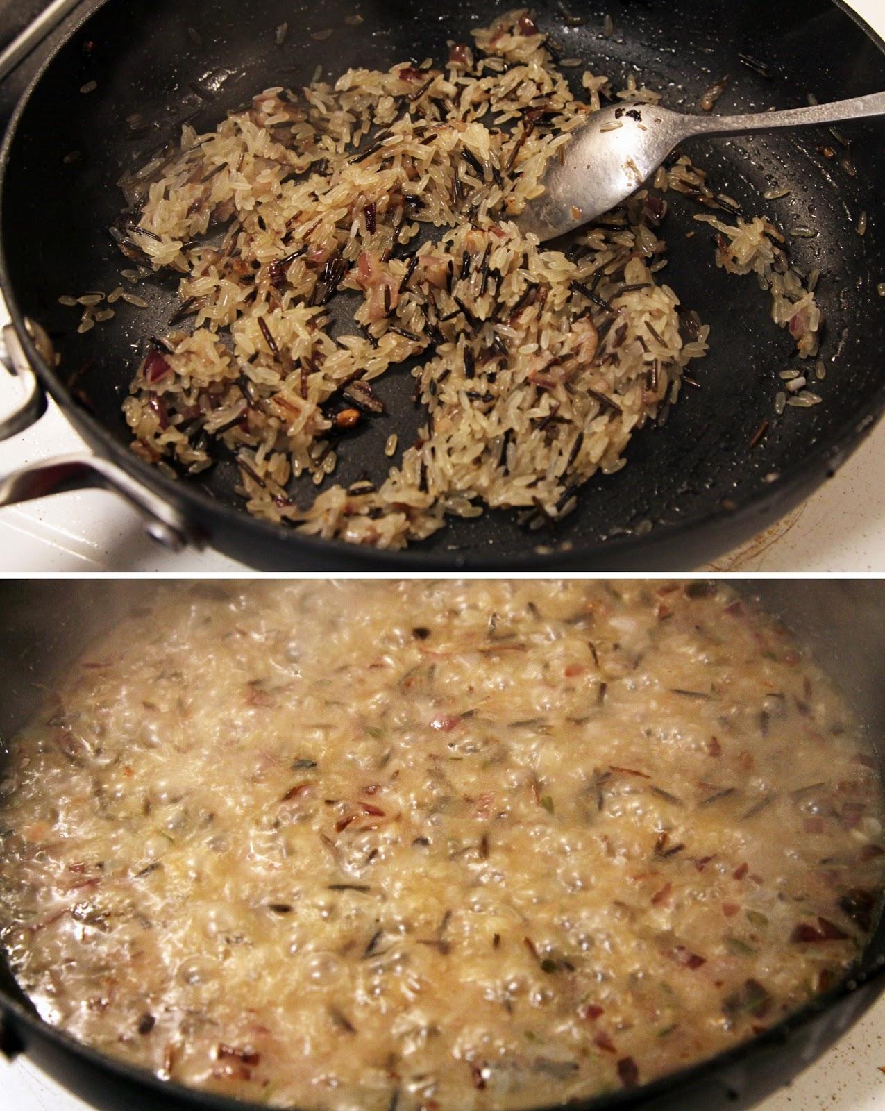 Рецепт ризотто с курицей и грибами пошаговое фото