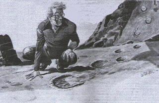 Tapak Raksasa, Teka-teki Di Pantai Sunyi