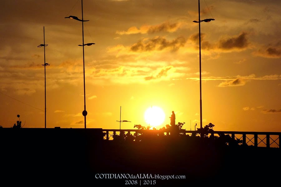Ezequiel Rodrigues. Cotidiano da alma. Por do sol no Rio Potengi. Pedra do Rosário. Natal RN