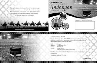 Desain undangan selamatan haji Bapak Syarbini, BA. Desain dibuat ...