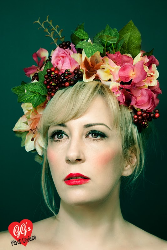Floral Crown, Flower Headdress, Fascinator, Ascot, Millinery, Hats, Bridal