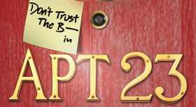 ABCTV title card for Don't Trust The B_ _ _ _ In Apt 23