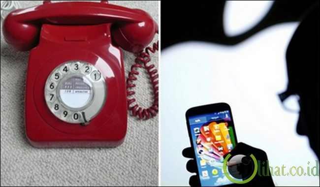Dulu: Telepon rumah (fixed line) - Sekarang: Mobile