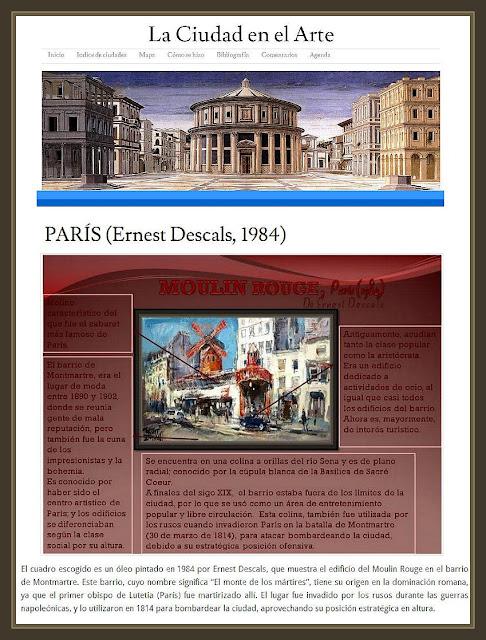 PARIS-PINTURA-MOULIN ROUGE-ARTE-CIUDAD-CUADROS-PINTOR-ERNEST DESCALS