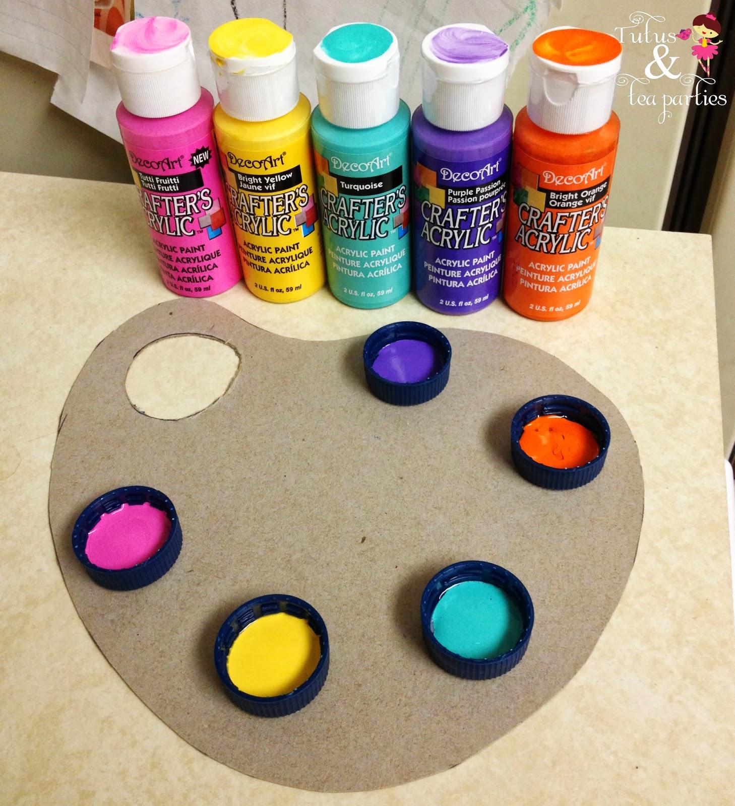Tutus and tea parties diy paint palette - Recycler des palettes ...